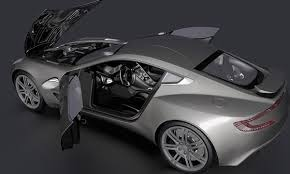 aston martin one 77 black interior. aston martin one 77 3d model rigged max obj fbx c4d mtl tga 6 black interior t