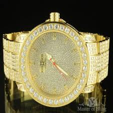 Big Face Designer Watches Mens Real Diamond Khronos Watch Gold Stainless Steel Full