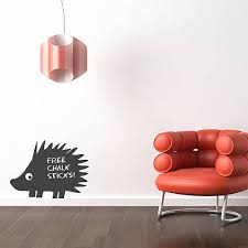 hedgehog chalkboard wall sticker by