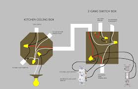 electrical is this ceiling box wiring correct and how can i picture of ceiling box and wall box wiring the 2 gang