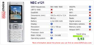 NEC e121 :: GSMchoice.com