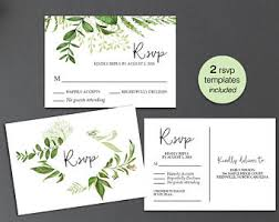 wedding rsvp postcards templates rsvp postcard etsy
