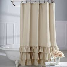 white ruffle shower curtain. Veratex Vintage Ruffle Shower Curtain White