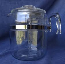 Coffee percolators once enjoyed great popularity but were supplanted in the early 1970s by automatic drip. Retro Vintage 60s 70s Pyrex Glass Coffee Pot Percolator Usa 9 Cup Stove Top Vg Pyrex Glass Percolator Coffee Pot