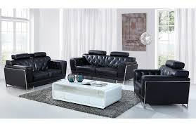 modern black leather sofa. Modren Black Rose Modern Black Leather Sofa Set  On