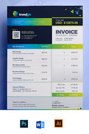 ms invoice business invoice ms word corporate identity template