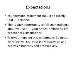 Personal Description