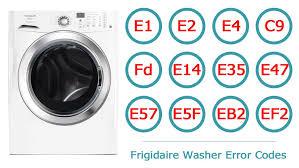 frigidaire washer error codes washer