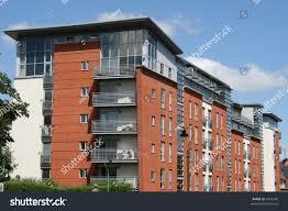 Modern Apartment Building Nottingham Uk Stock Photo - Modern apartment building facade
