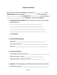 Catering Agreement Catering Contract Free Sample Docsketch