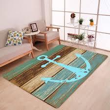 unique deck anchor pattern water absorption indoor outdoor area rug