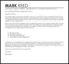 Underwriting Assistant Resumes Underwriting Assistant Cover Letter Sample Cover Letter Templates