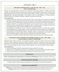 Resume Sample 2 Civil Engineer Resume Career Resumes