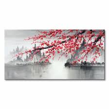 hand painted plum blossom flower canvas wall art traditional chinese oil painting on plum flower canvas wall art with hand painted plum blossom flower canvas wall art traditional chinese