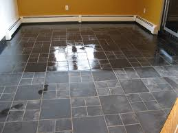 floor cleaned wax of penetrating sealer on slate