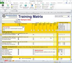 workout excel templates training matrix skills matrix template