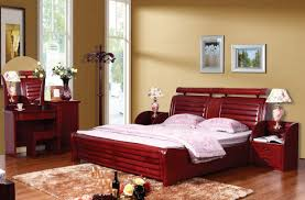 best wood for furniture. Amazing Red Solid Wood Bedroom Furniture Sets For Modern Interior With Luxury Fur Rug On The Wooden Flloring Best