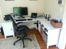 excellent desk office. Excellent Desk Minus One Pedestal Plus Sofa Table Glass Top Office Decorating Ikea Linnmon White