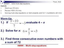 11 solve multi step equations worksheet