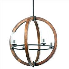 wood and metal orb chandelier rustic on decor steals distressed chandeliers white new r