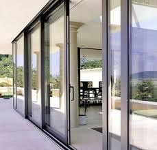 how to open aluminium sliding glass doors