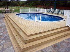 Image White Wood Above Ground Pools Decks Idea Bing Images Pinterest 228 Best Above Ground Pool Decks Images In Ground Pools Above
