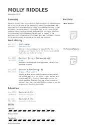 Shift Leader Resume samples