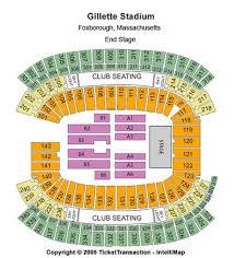 Gillette Stadium Tickets In Foxborough Massachusetts