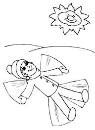 Snowangel Winter Coloring Page Girls Coloring Pages Holiday