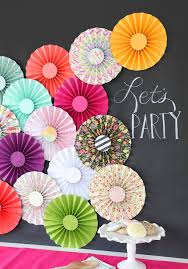 Paper Rosette Flower Rosette Backdrop Craft Ideas Rosettes Backdrops Paper Rosettes
