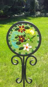 208 best fused glass images on fused glass stained fused glass garden stake by sue rath