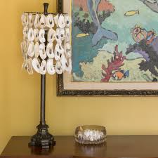 oyster shell lampshade an easy diy