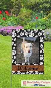 custom garden flags. Modren Flags Show Off Your Favorite Playful Pup With A Personalized Photo Garden Flag  From Yardgallerdesignscom For Custom Garden Flags