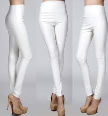 white faux leather leggings pictures