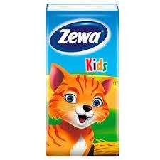 Купить <b>Платки носовые детские</b> «<b>Zewa</b>» - Kids, 3 слоя, 10 шт ...