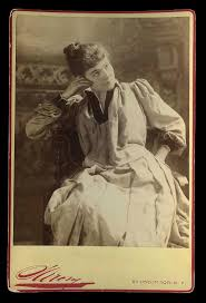 c1871 Cabinet Card Photo Famous stage Actress Cora Potter in costume By  Famous Napoleon Sarony & Company of New York