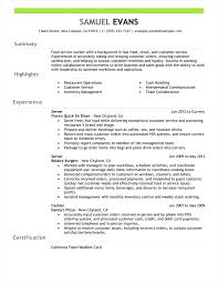 Serving Resume Example – Resume Ideas Pro