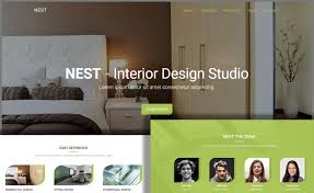 Interior Design Template Free One Page Interior Design Html5 Website Template For