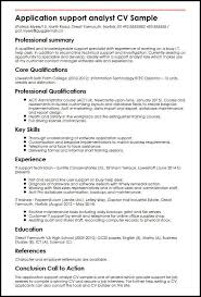 Help With Job Application Application Support Analyst Cv Sample Myperfectcv
