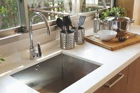 kitchen sink installed in a new countertop