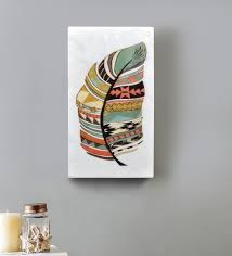 white marble tribal wall art by