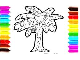 Small Picture How to Draw and Color Banana Tree Coloring Pages for Children