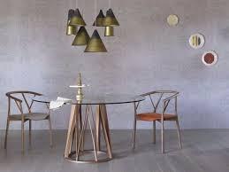 round wood and glass dining table acco wood and glass table by miniforms