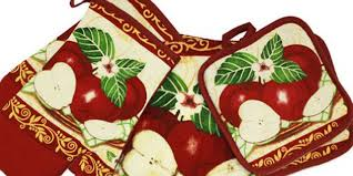 apple kitchen decor. kitchen towels sets for decorating and using in an apple decor l