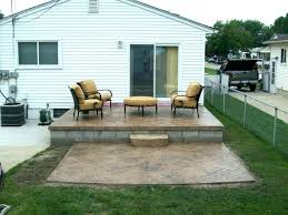 raised concrete patio landscaping ideas