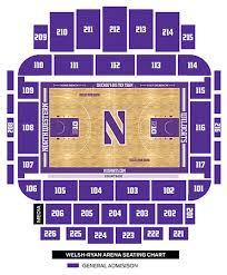 New Welsh Ryan Seating Chart Northwestern University Welsh Ryan Arena Evanston