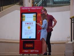 Twitter Powered Vending Machine Inspiration McDonald's Twitter Vending Machine Australia Powered By Silkron