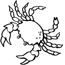Crab Color Pages free printable crab coloring pages for kids on easy crab coutout templates