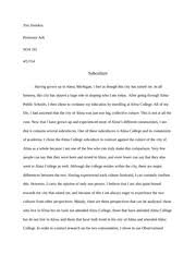 social deviance essay taylorpayne soa feb  8 pages subculture paper