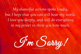 my shameful actions i m sorry messages for friend